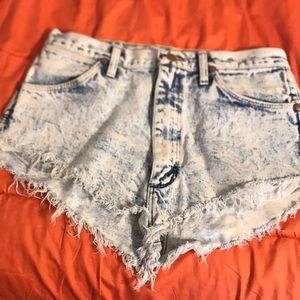 Wrangler shorts from free people